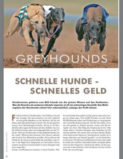 Das Recht der Tiere 2/2014 schnelle hunde - schnelles geld: greyhounds!