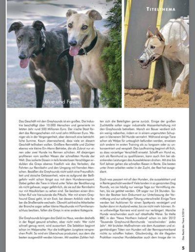 Das Recht der Tiere 2/2014 schnelle hunde - schnelles geld: greyhounds! Seite 3