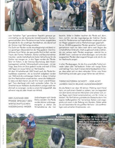 Das Recht der Tiere 4/2014 Pferdedrama in Irland: AUSGESETZT! Seite 3
