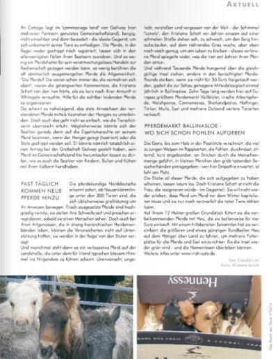 Das Recht der Tiere 4/2014 Pferdedrama in Irland: AUSGESETZT! Seite 4